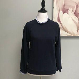 J Crew Ruffle Trim Sweatshirt